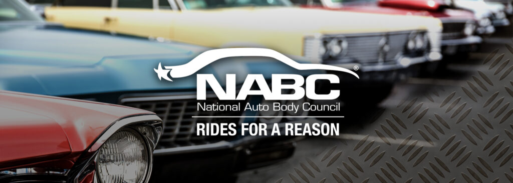 NABC Rides For A Reason Logo and Car Graphic